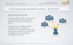 Präsentation - Präsenz im Internet